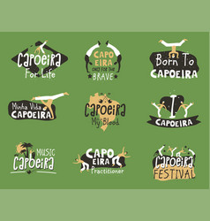 Capoeira brazilian fighting dance vector