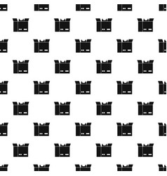 cat in a cardboard box pattern vector image vector image
