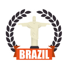 Christ corcovado brazil icon vector