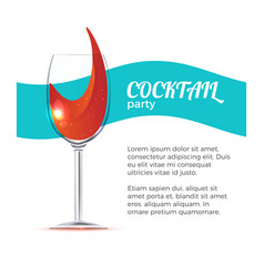 cocktail party vector image