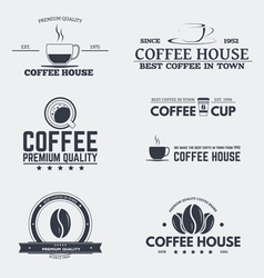 Coffee house emblems vector image vector image