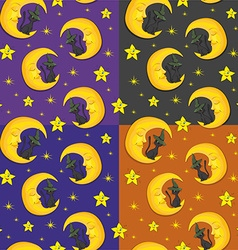 Cresent moon pattern design vector