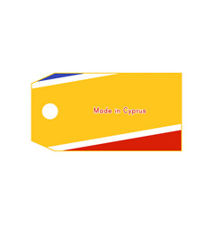 cyprus flag on price tag with word made in cyprus vector image vector image