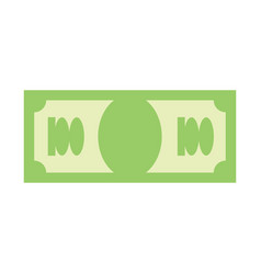 dollar sign money symbol cash emblem financial vector image vector image