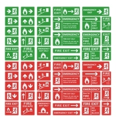 Exit sign set isolated vector