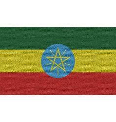 Flags Ethiopia on denim texture vector image vector image