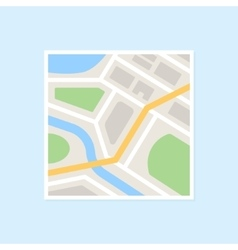 Flat City Map vector image