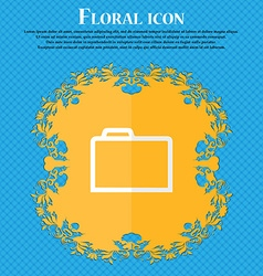 Folder floral flat design on a blue abstract vector