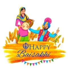 Happy baisakhi background vector