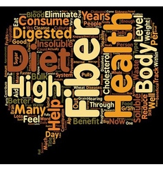 How Does a High Fiber Diet Help Your Health text vector image vector image