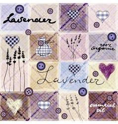 Lavender retro background vector