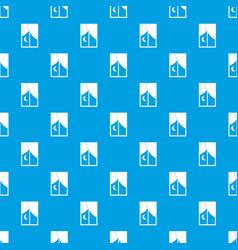 Nightly window pattern seamless blue vector