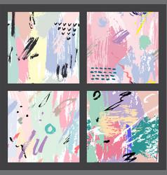 universal memphis hand drawn seamless pattern vector image vector image