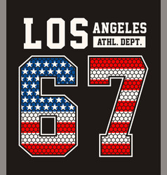 Vintage los angeles athletic dept 67 vector
