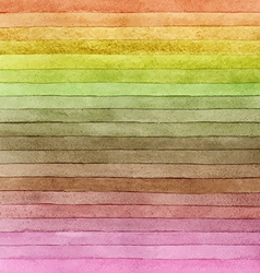 Watercolor colorful brush strokes striped vector image vector image