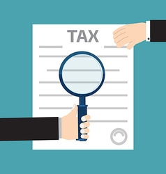 Tax inspector concept with hand flat style vector image