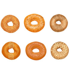 Bagels with sesame vector