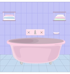 cartoom bathroom vector image