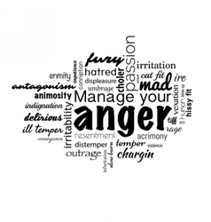 Anger management banner vector