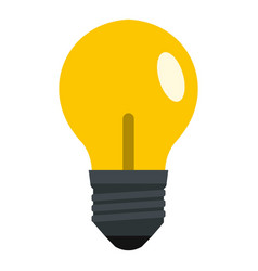 yellow light bulb icon isolated vector image