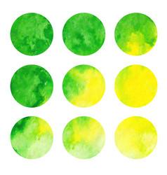 Watercolor set of circles vector