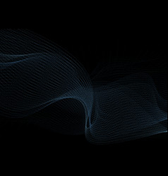 Dark blue abstract dotted sci-fi tech background vector