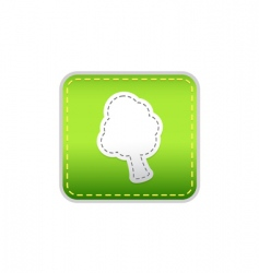 Tree green sticker vector