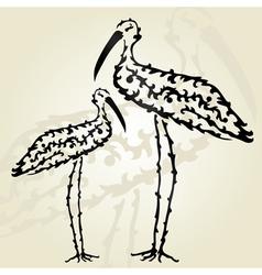 decorative storks vector image