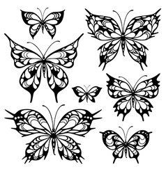 Tribal butterflys vector
