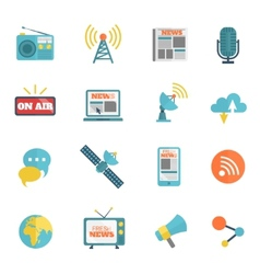 Media flat icons vector