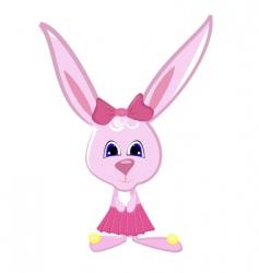 rabbit girl vector image