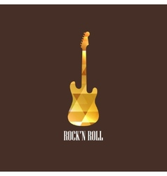 With diamond guitar icon vector