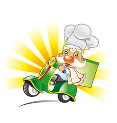 scooter-chef vector image
