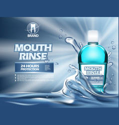 3d mouthwash bottle or realistic 3d container vector image vector image