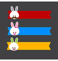 Happy easter banner 001 vector