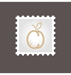 Apricot stamp outline vector