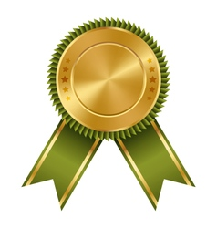 Golden Green Black Premium Quality Best Labels vector image