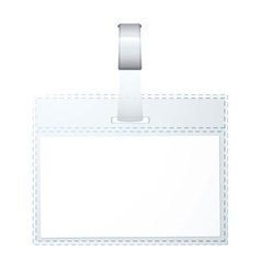 Clear plastic business name tag vector