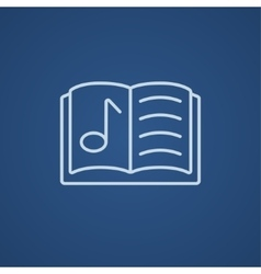 Music book line icon vector
