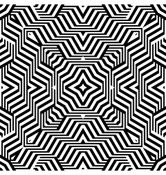 Design seamless monochrome lines geometric pattern vector