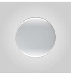 Round glass lens vector