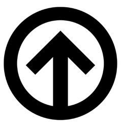 Direction up flat icon vector