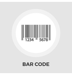 Bar code flat icon vector