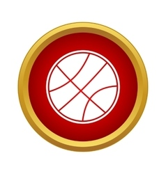 Professional basketball icon simple style vector