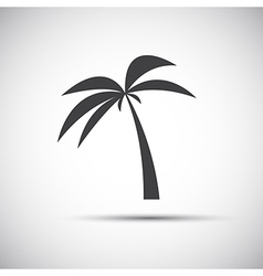 Simple of a palm tree vector
