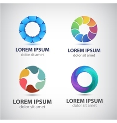 abstract colorful shiny modern logo icon vector image