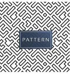 abstract maze pattern white background imag vector image