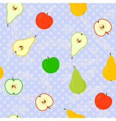 apple pear seamless grunge v vector image vector image