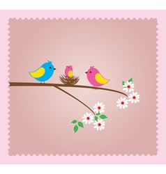 Bird family vector