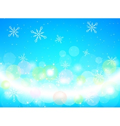Bright blue christmas background vector